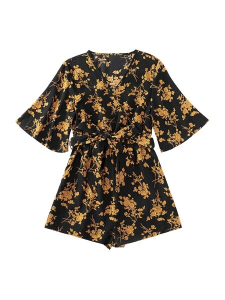 Mommy And Daughter Matching Clothes Leaves Print Romper Bodysuit Wholesale Family Matching Dresses 2021-09-04