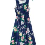 Mom And Me Allover Floral Print Tank Dress Wholesale 3