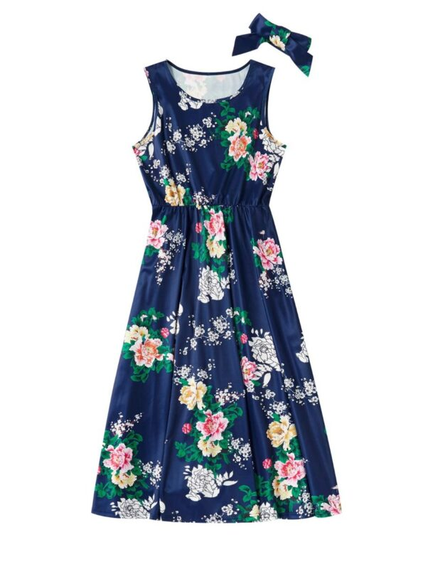 Mom And Me Allover Floral Print Tank Dress Wholesale 8