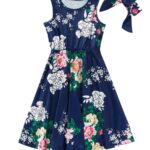 Mom And Me Allover Floral Print Tank Dress Wholesale 4