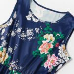 Mom And Me Allover Floral Print Tank Dress Wholesale 7