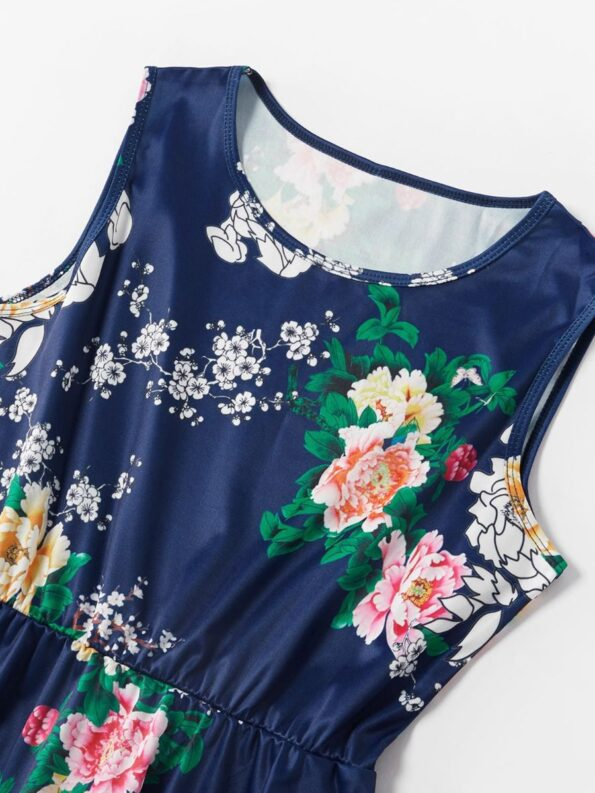 Mom And Me Allover Floral Print Tank Dress Wholesale 12