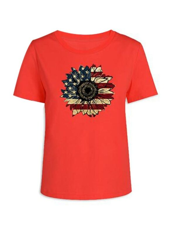 Flower Pattern Independence Day Mom And Daughter Tee Wholesale Family Matching 5