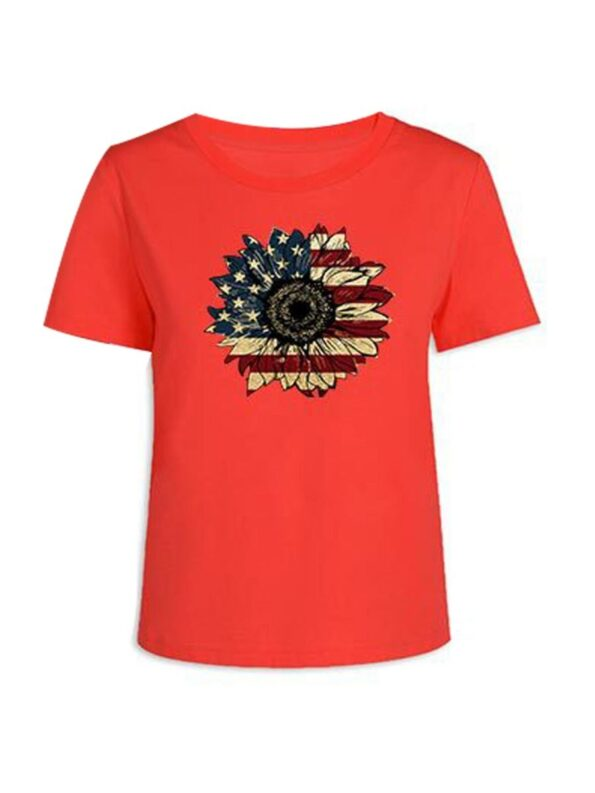 Flower Pattern Independence Day Mom And Daughter Tee Wholesale Family Matching 6