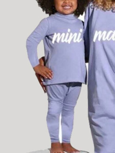 Mini Mama Print Matching Mother Daughter Outfit Wholesale Family Matching FAMILY MATCHING 2021-09-03