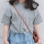 Mommy And Me Rib-knit Knot Hem Top Wholesale Family Matching 3