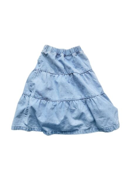 Mommy And Me Denim Frill Trim Tiered Skirt Wholesale Family Matching FAMILY MATCHING 2021-09-02