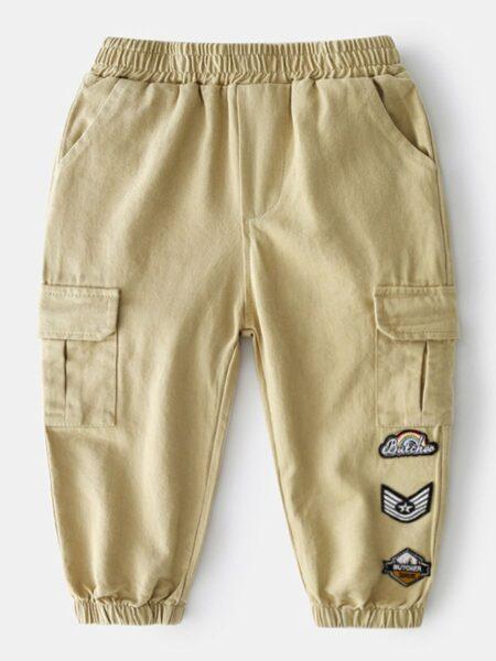 Kid Boy Multi-pocket Tie Feet Cargo Pants Wholesale Boy Clothes  Wholesale BOYS 2021-09-15