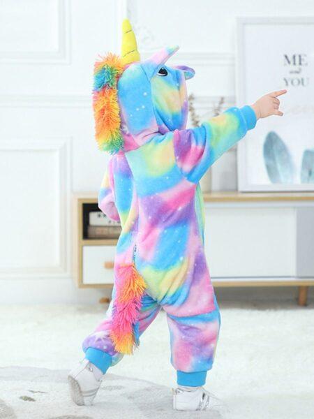 Tie Dye Unicorn Baby Hooded Jumpsuit  Wholesale BABIES 2021-09-08