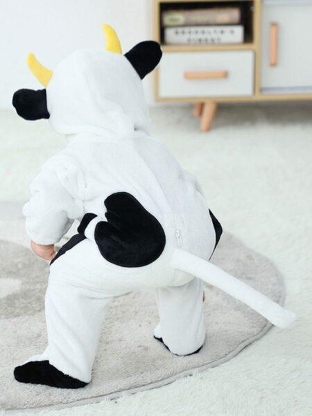 Cartoon Cow Flannel Footie Baby Hooded Jumpsuit  Wholesale BABIES 2021-09-08