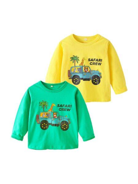 Animals Car Letter Print Kid Boys Tops Wholesale Boy Clothes  Wholesale BOYS 2021-09-04