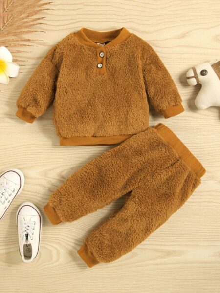 Solid Color Top And Trousers Wholesale Baby Clothes Sets Wholesale BABIES 2021-09-14
