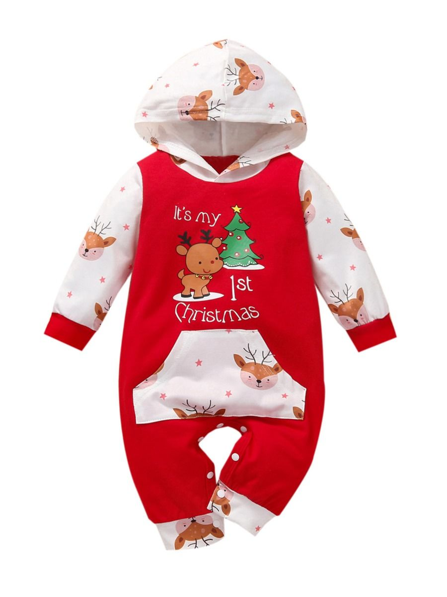 Baby Christmas Hooded Jumpsuit  Wholesale