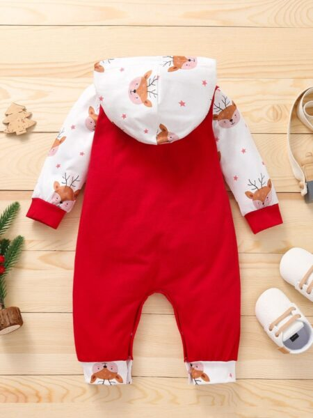 Baby Christmas Hooded Jumpsuit  Wholesale 2