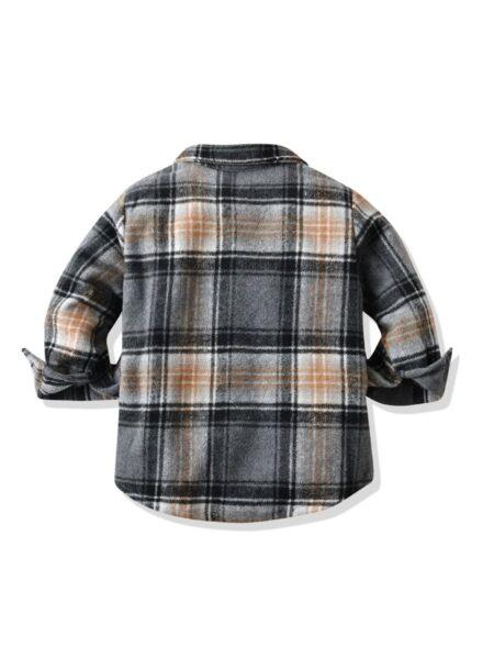Plaid Print Kid Boy Shirts Wholesale Boys Clothes  Wholesale BOYS 2021-09-07
