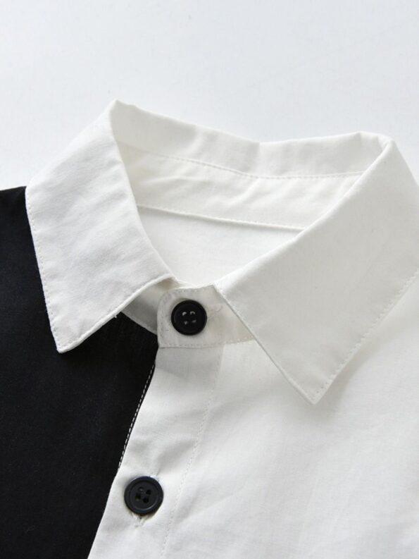 Color Blocking Shirt Kid Boys Suit Sets Wholesale Boy Clothes  Wholesale 7