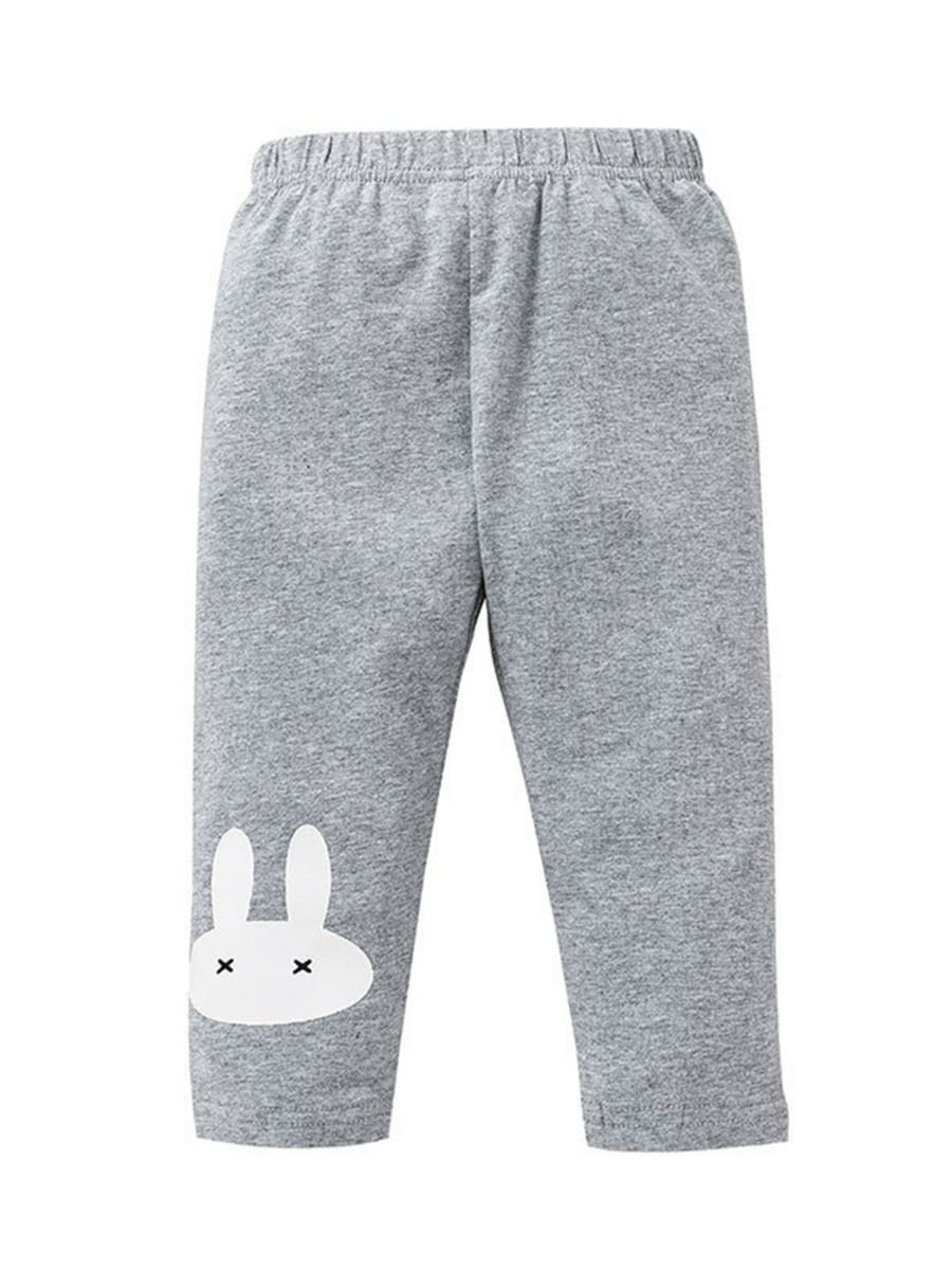 Rabbit Print Casual Trousers Wholesale Baby Boutique Clothing For Girls  Wholesale BABIES 2021-09-11