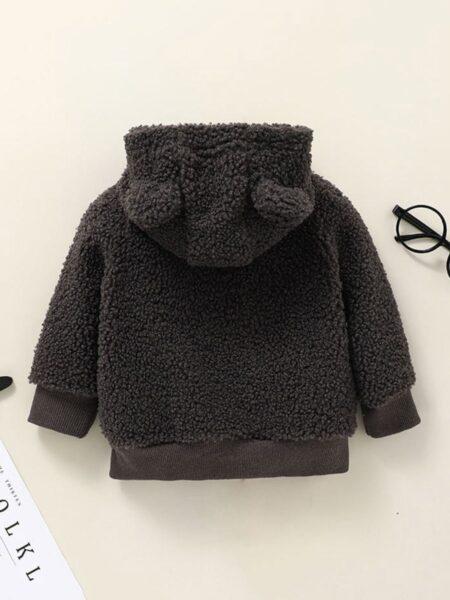 Cartoon Fleece Hooded Jacket Wholesale Baby Clothing  Wholesale BABIES 2021-09-11