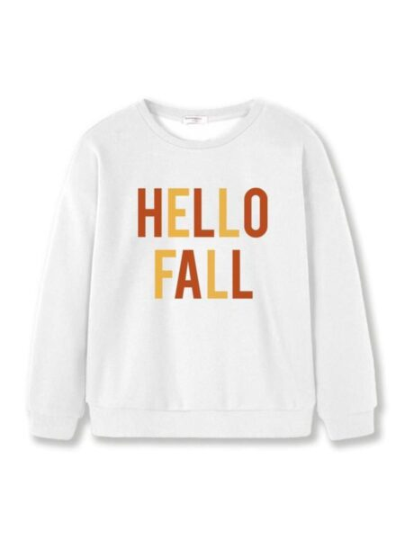 Hello Fall Halloween Long Sleeve Top Kids Wholesale Clothing  Wholesale 2