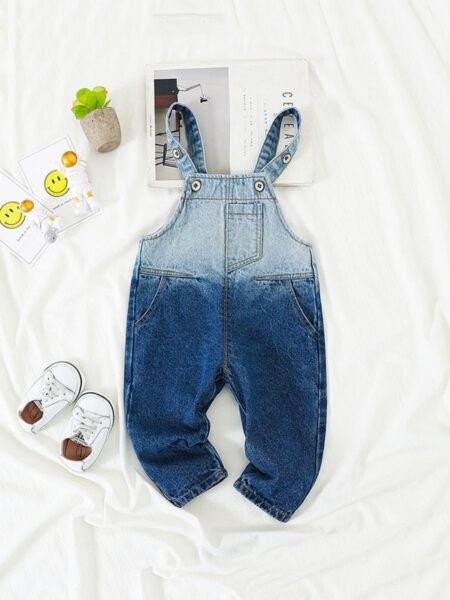 Toddler Gradient Color Overalls  Wholesale 2