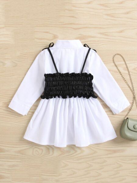 Shirt Dress And Leather Waist Tube Cami Top Wholesale Girl Clothing Sets  Wholesale DRESSES 2021-09-08