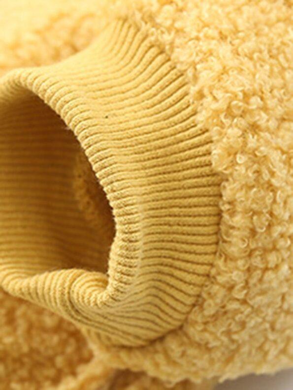 Solid Color Fleece Pocket Decor Kid Jackets Wholesale Kids Clothing Wholesale 16