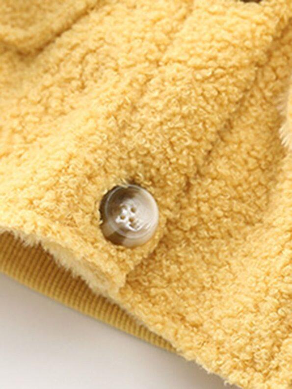Solid Color Fleece Pocket Decor Kid Jackets Wholesale Kids Clothing Wholesale 15