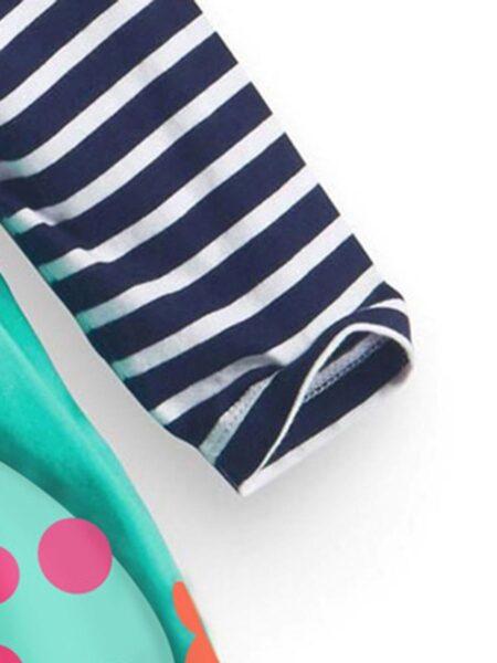 Striped Rainbow Print Dresses For Girl  Wholesale DRESSES 2021-09-11