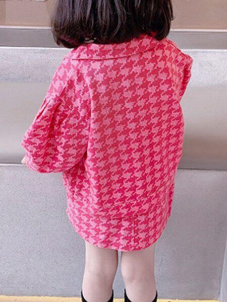 Houndstooth Jacket & Skirt Kid Girls Clothing Sets Fashion Girl Wholesale  Wholesale BABIES 2021-09-15