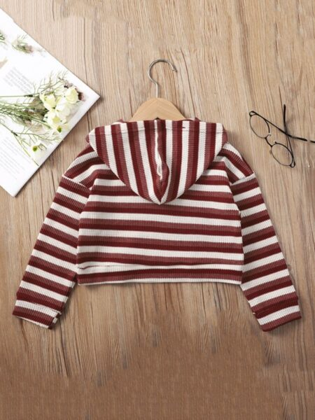 Striped Kid Girl Hoodies Wholesale Girls Clothes  Wholesale GIRLS 2021-09-10