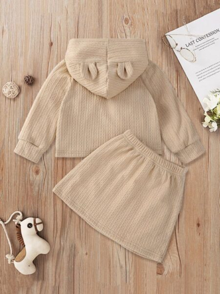 Kid Girls Clothing Sets Apricot Hoodie And Skirt Fashion Girl Wholesale  Wholesale GIRLS 2021-09-10