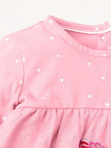 Star Embroidery Bird Castle Dresses For Girl  Wholesale DRESSES 2021-09-11