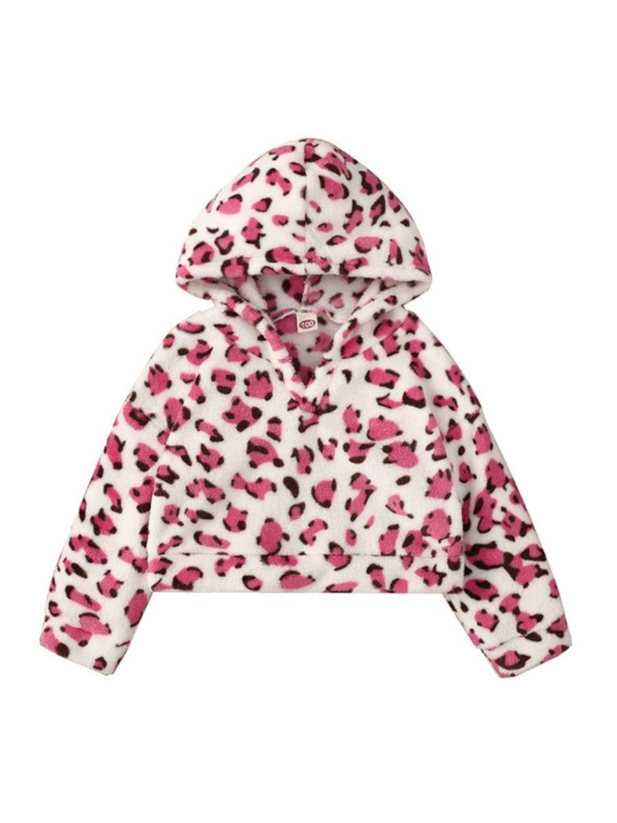 Leopard Print Kid Girl Hoodies Wholesale Girls Clothes  Wholesale