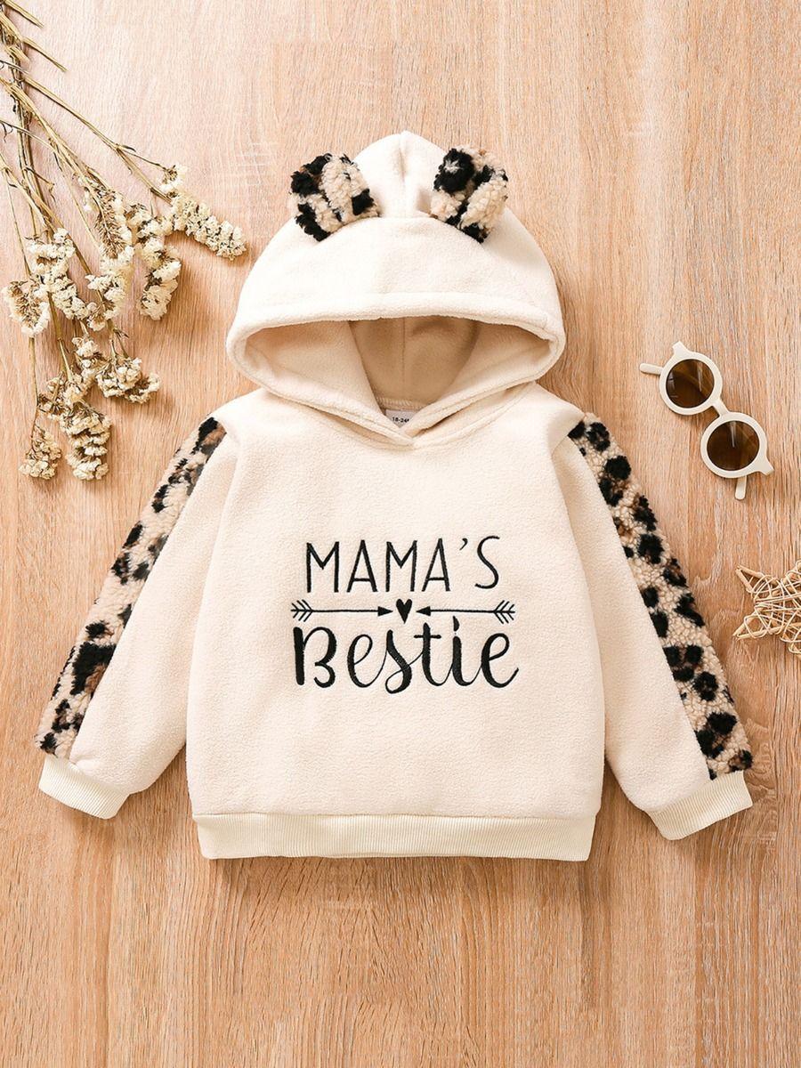 MAMA'S BESTIE Leopard Print Hoodie Kids Wholesale Clothing  Wholesale