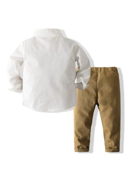 Fake Two-piece Vest Shirt & Pants Kid Boys Suit Sets Wholesale Boy Clothes  Wholesale BOYS 2021-09-15