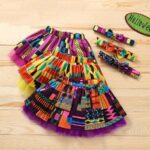Wholesale Little Girl Clothing Bohemian Mesh Skirt With Headband  Wholesale 3