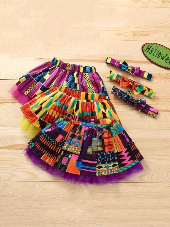 Wholesale Little Girl Clothing Bohemian Mesh Skirt With Headband  Wholesale 14