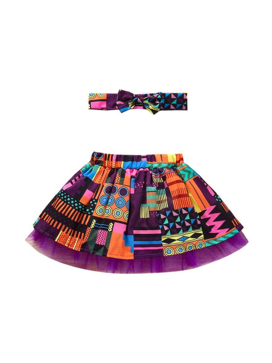 Wholesale Little Girl Clothing Bohemian Mesh Skirt With Headband  Wholesale 2