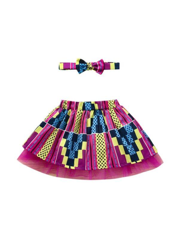 Wholesale Little Girl Clothing Bohemian Mesh Skirt With Headband  Wholesale 19