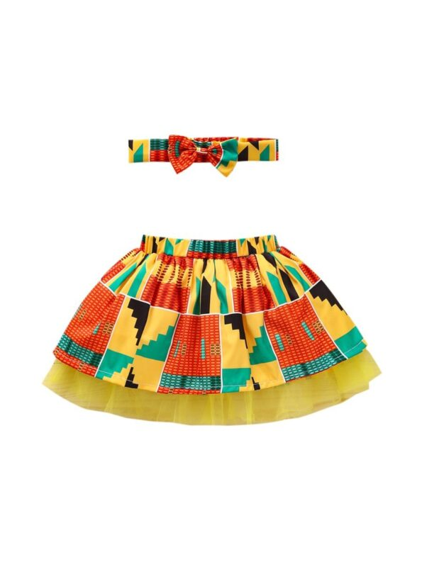 Wholesale Little Girl Clothing Bohemian Mesh Skirt With Headband  Wholesale 17
