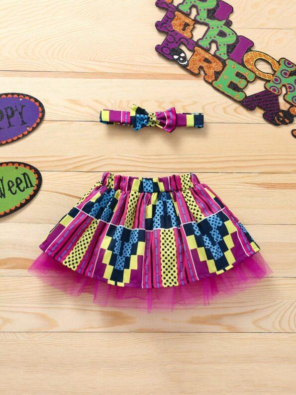 Wholesale Little Girl Clothing Bohemian Mesh Skirt With Headband  Wholesale 20