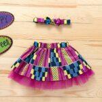 Wholesale Little Girl Clothing Bohemian Mesh Skirt With Headband  Wholesale 10