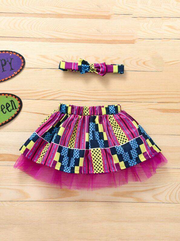 Wholesale Little Girl Clothing Bohemian Mesh Skirt With Headband  Wholesale 21