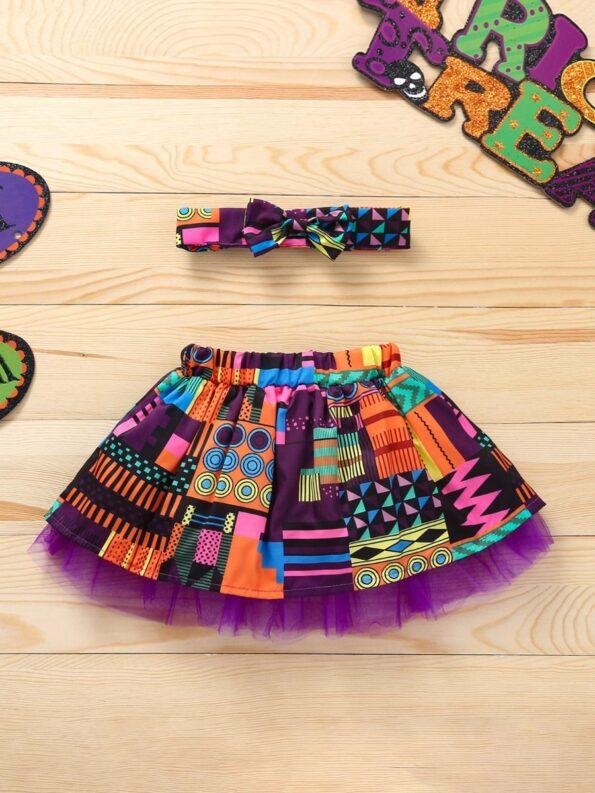 Wholesale Little Girl Clothing Bohemian Mesh Skirt With Headband  Wholesale 16