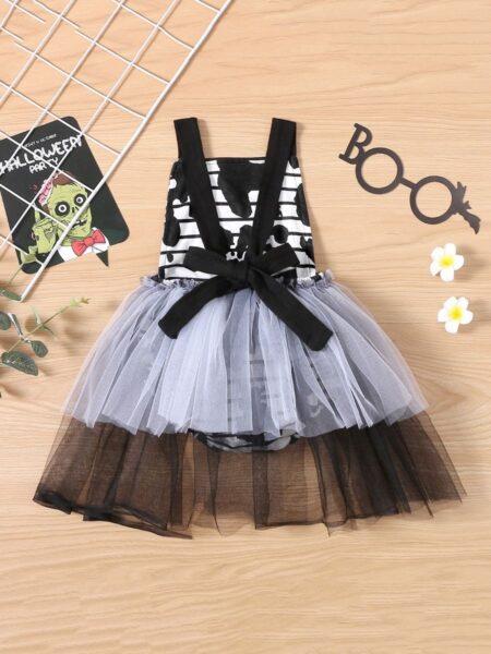 Halloween Ghost Print Mesh Bodysuit Dresses For Girl Wholesale Baby Clothing  Wholesale 2