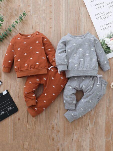 Sun Print Wholesale Baby Clothes Sets Top And Pants  Wholesale BABIES 2021-09-04
