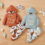 I'm My Daddy's Girl And My Mommy's World Flower Print Wholesale Baby Clothing Sets  Wholesale 7