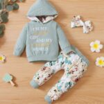 I'm My Daddy's Girl And My Mommy's World Flower Print Wholesale Baby Clothing Sets  Wholesale 6