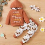 I'm My Daddy's Girl And My Mommy's World Flower Print Wholesale Baby Clothing Sets  Wholesale 4