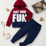 Just Have Fun Hi Color Hoodie And Pants Kid Boys Sets Wholesale Boy Boutique Clothes Wholesale 4